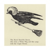 The Rural Runcible Raven Giclee Print by Edward Lear