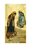 Water Carriers Giclee Print by Adolfo Belimbau