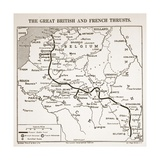 The Great British and French Thrusts, 1915 Giclee Print