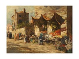 A Venetian Fruit Stall, 1896 Giclee Print by George Charles Haite