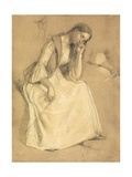 Study of a Seated Girl Giclee Print by Charles West Cope