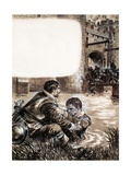 Only Two Survived the Massacre at New Brandenburg Giclee Print by Kenneth John Petts