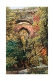 The Devil's Bridge, Nr. Aberystwyth Giclee Print by Alfred Robert Quinton