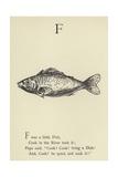 The Letter F Giclée-Druck von Edward Lear