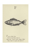 The Letter F Giclee Print by Edward Lear