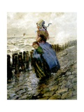 Dutch Peasant Watching the Sea Giclee Print by George Hitchcock