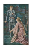 Guenevere and Sir Bors Giclee Print by Henry Justice Ford