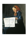 Reading Newspaper Giclee Print by Adriano Cecioni