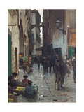 Florence Ghetto, 1882 Reproduction procédé giclée par Telemaco Signorini