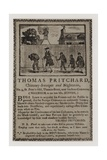 Chimney Sweeps, Thomas Pritchard, Trade Card Giclee Print