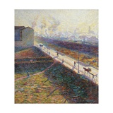 The Morning Giclee Print by Umberto Boccioni