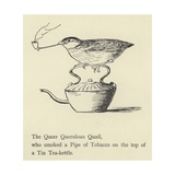 The Queer Querulous Quail Giclee Print by Edward Lear