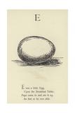 The Letter E Giclée-Druck von Edward Lear