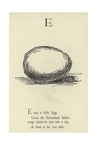 The Letter E Giclee Print by Edward Lear