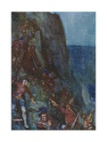 Slipping and Stumbling, the Men Went On Giclee Print by Joseph Ratcliffe Skelton