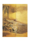 Landscape with Waterfall Giclee Print by Kano Tansetsu