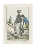 """Good-Bye Till This Evening"" Giclee Print by Pierre de La Mesangere"