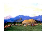 Evening Prayer in Devil Country, Fiji, 1891 Giclee Print by John La Farge