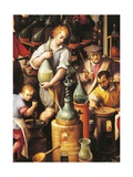 Alchemist's Workshop Giclee Print by Jan van der Straet