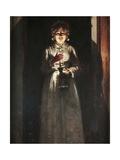 Woman with Candle Giclee Print by Odoardo Borrani