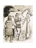 Charlemagne Inspecting Cloaks Giclee Print