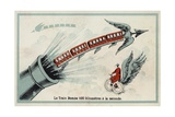 The Bomb Train - 100 Kilometres Per Second Giclee Print