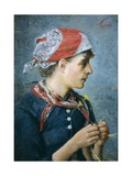 Braid Maker, 1887-88 Giclee Print by Silvestro Lega