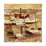 River Scene in Winter, C.1899 Giclee Print by Ernest Lawson