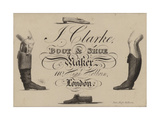 Boot and Shoemaker, J Clarke, Trade Card Giclee Print