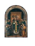 The Mass of St Apollonius Giclee Print by Girolamo Romanino