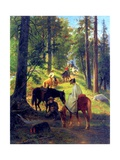 Return from Glacier Point, 1874 Giclee Print by William Hahn