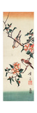 Sparrows and Camelia Giclee Print by Ikeda Eisen