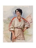 A Russian Servant in Summer Dress Giclee Print by Frederic De Haenen