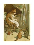 The Three Kittens Giclee Print by John Lawson