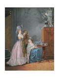Afternoon Tea Giclee Print by Gabriel Jacques de Saint-Aubin