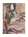 The Murder of Caesar Giclee Print by William Rainey
