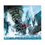 Sinking of the Tirpitz Giclee Print by Mike Tregenza