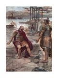 The Exiled Marius Amidst the Ruins of Carthage Giclee Print by William Rainey