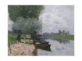 The Seine at Bougival, 1872 Giclee Print by Alfred Sisley