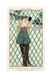 Evening Dress, from 'Costumes Parisiens' 1913 Giclee Print