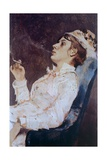 Young Smoker Giclee Print by Tito Conti