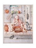 Cacasenno Eats a Pot of Glue Giclee Print by Giuseppe Maria Crespi