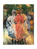 Young Women Chatting, C.1892 Giclee Print by Childe Hassam