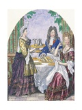 Marquise De Lude at Table Giclee Print by Nicolas Bonnart