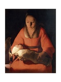 Newborn, 1645-1648 Giclee Print by Georges de La Tour