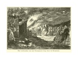 The Burning of a Germanic Village by the Romans Giclee Print by Willem II Steelink
