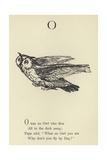The Letter O Giclée-Druck von Edward Lear