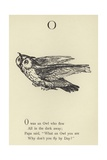 The Letter O Giclee Print by Edward Lear
