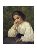 First Pain, 1863 Giclee Print by Silvestro Lega