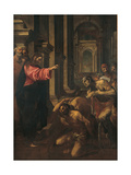 Christ at the Probatic Pool Giclee Print by Lodovico Carracci